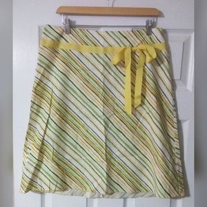 Speechless Skirt - Yellow and Green Stripes